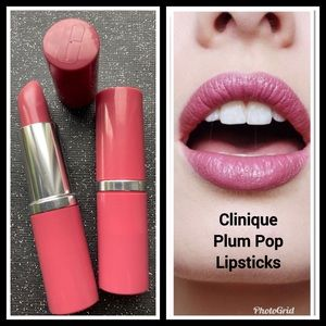 2 Clinique Plum Pop Lipsticks